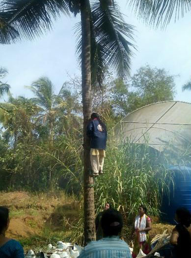 Bio-army Coconut Tree Climbing Training